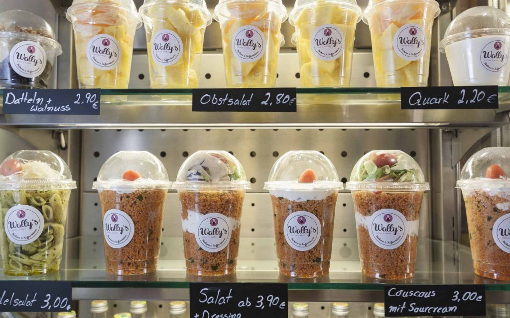 Wally's – Obst-, Nudel- Couscous-Salate to-go